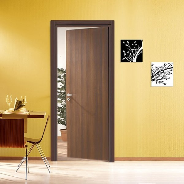 Interior doors in Laminated National walnut color