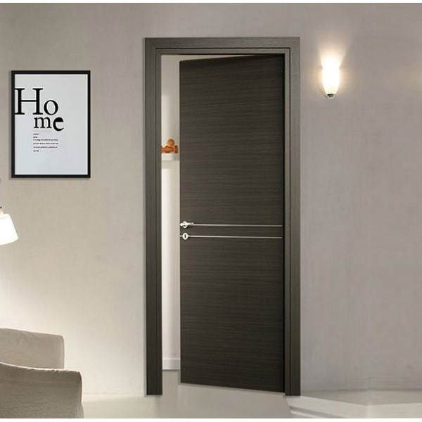 Internal Doors - Laminate Door with central aluminum inserts