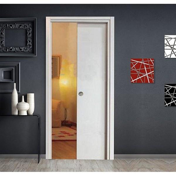 Porta Scorrevole Scomparsa Bianco Matrix con maniglietta Porte Interne