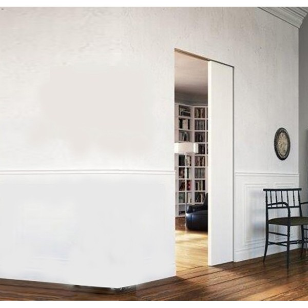 Flush-to-Wall Sliding Hidden Door