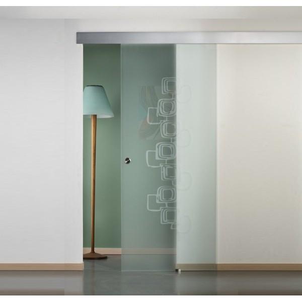 Porte scorrevoli esterne satinate a disegno per foro muro 80/88 x 215 Porte Interne