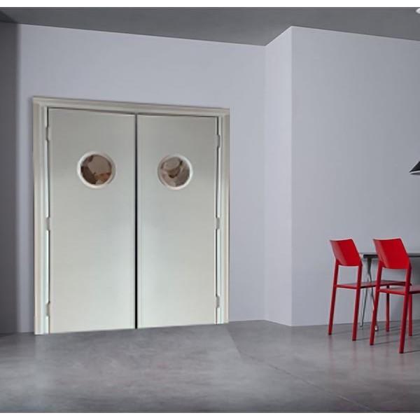 Porta saloon a Ventola FAR WEST 2 ANTE OBLO TONDO