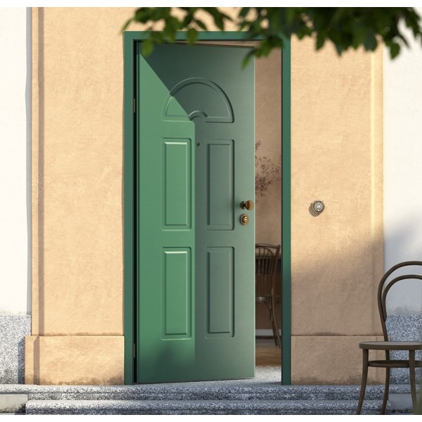 Portoncino blindato pantografato Verde Porte Interne