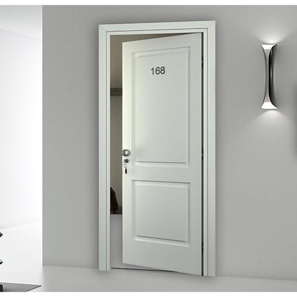 Porte tagliafuoco legno per Hotel REI 45 Laccata Bianca con Bugne Porte Interne