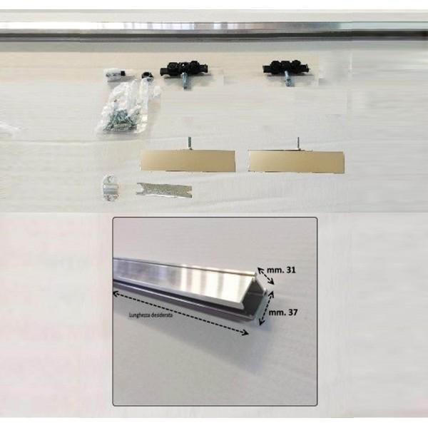 binario per porta scorrevole per vetro