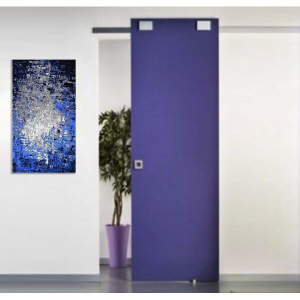 Binario Divina Scorrevole alluminio per porta kg. 80 BLUEMOTION ammortizza Porte Interne