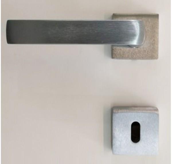 Maniglia Quadra Cromo Satinata (Art.161ACSRR) Porte Interne