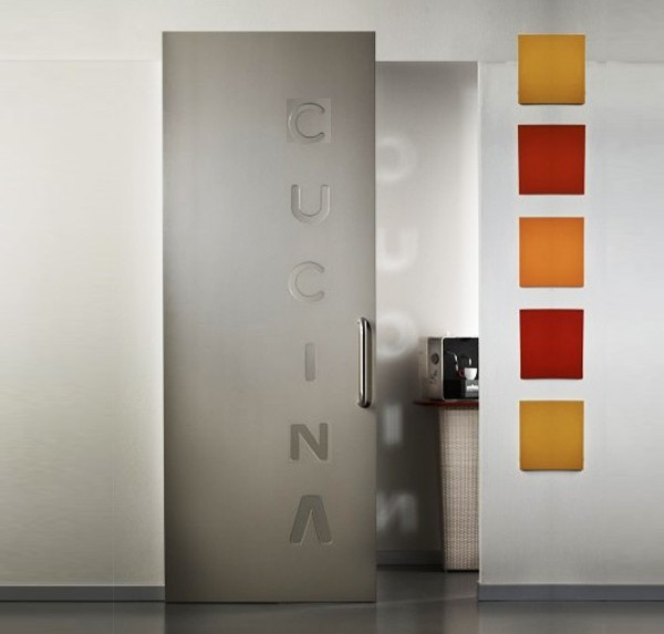 Sliding doors CUCINA with invisible tracks