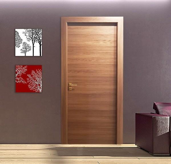 Horizontal Walnut Laminate Door