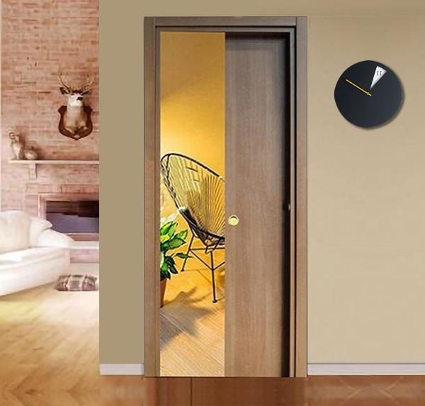 Walnut Tanganyika Retractable Sliding Door with small handle