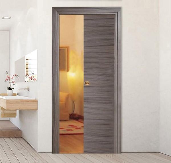 Rosewood Tortora Retractable Sliding Door with small handle