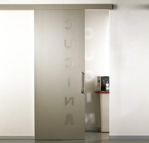 External Pantographed Lacquered Sliding Door