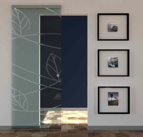 Custom designed transparent glass sliding door
