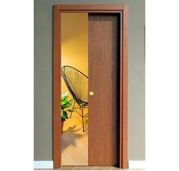 Porta Scorrevole Scomparsa Ciliegio con serratura | porteitaliane.com