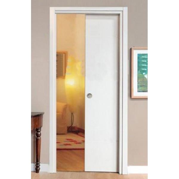 Porta scorrevole scomparsa bianca con serratura - Porta scorrevole bianca ...
