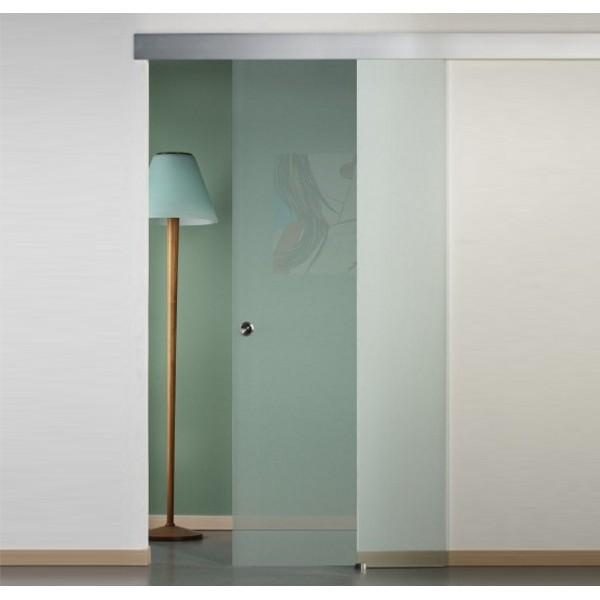 Porte scorrevoli in vetro satinato esterno muro