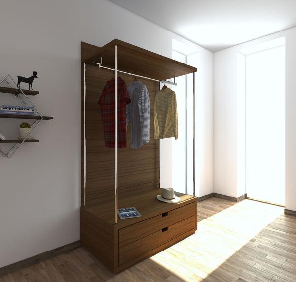 modulo cabina armadio con cassetti