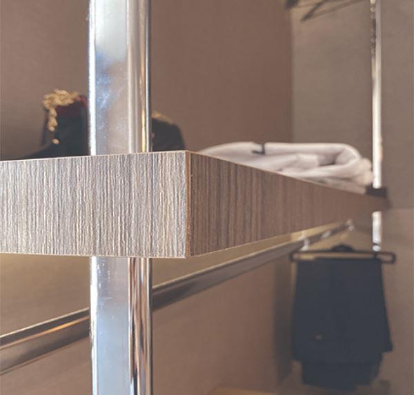 mensola struttura per cabine armadio