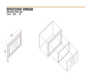 Dimensioni specchio con cornice urban