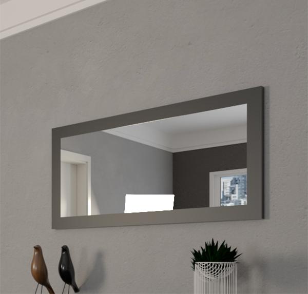Specchio con cornice nero