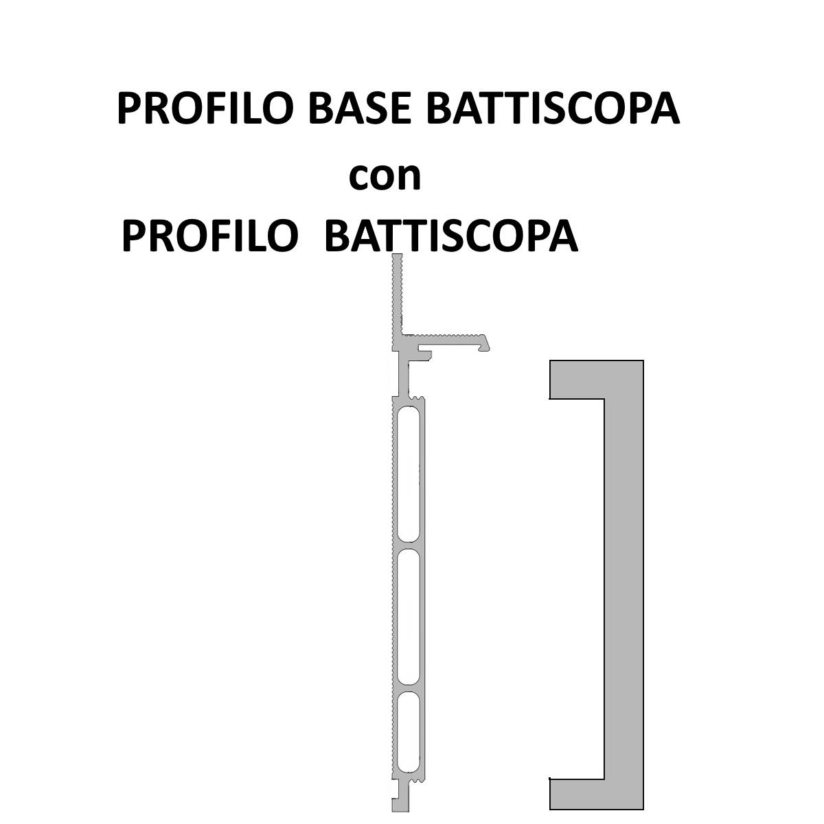 profilo base battiscopa con battiscopa