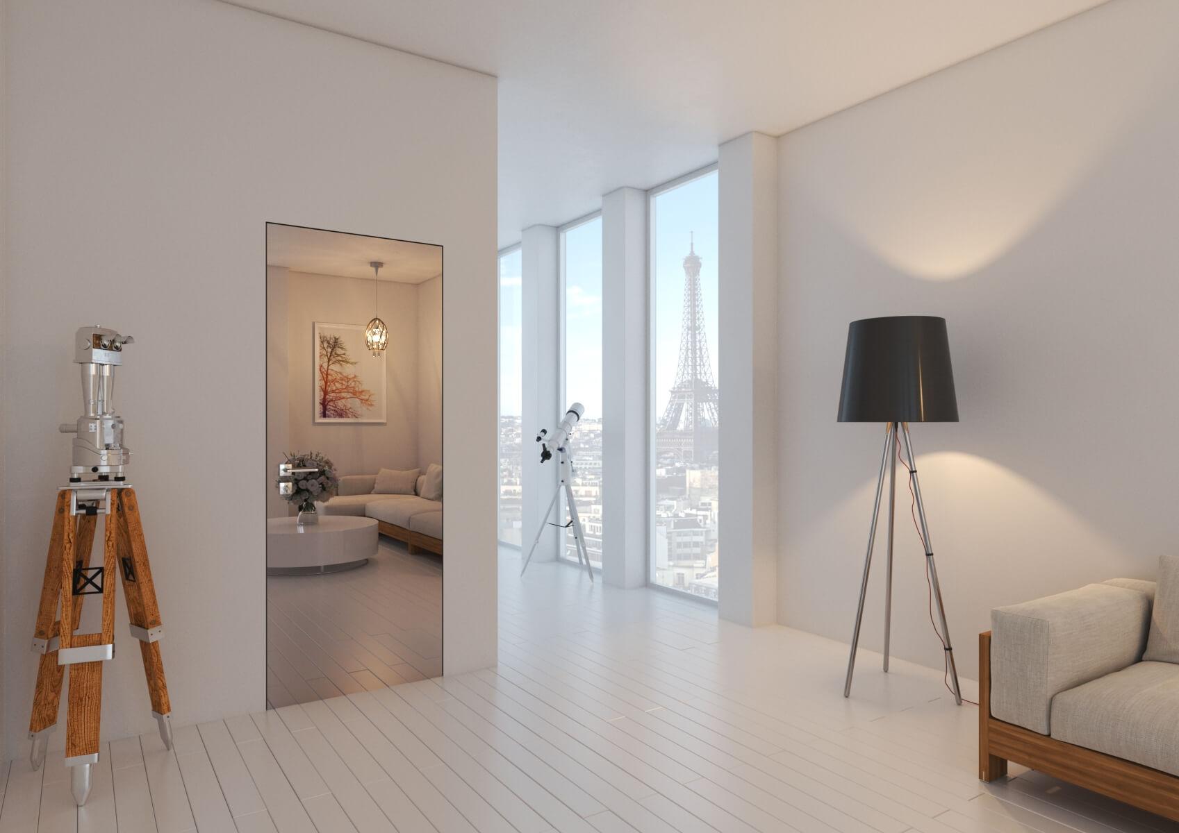 Porte Filo Muro Specchio porta raso muro e specchio esterno - blog arredamento