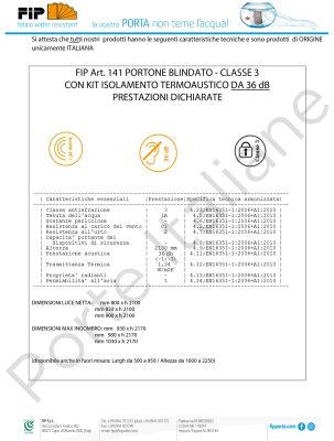 certificazione classe 3 portoncino blindato