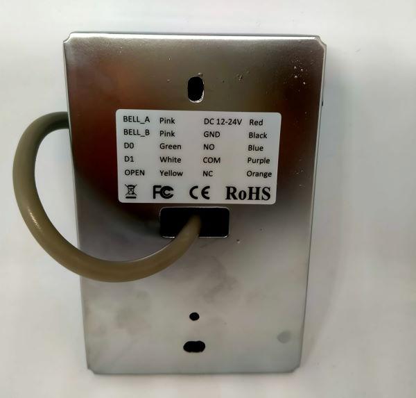 retro del dispositivo di controllo accessi in acciaio