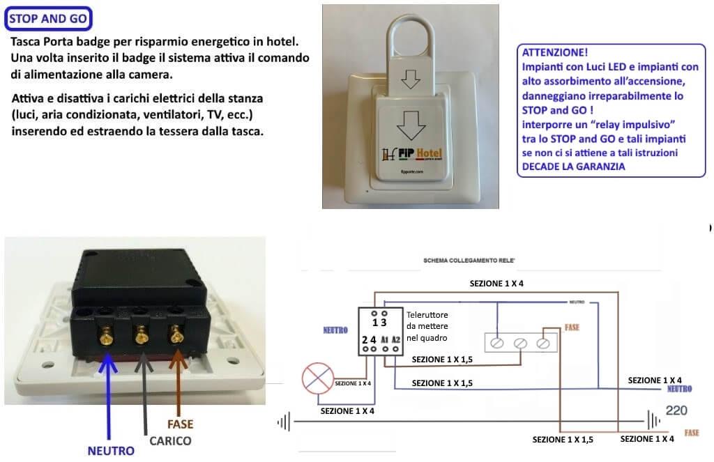 schema elettrico per risparmio energetico saving energy