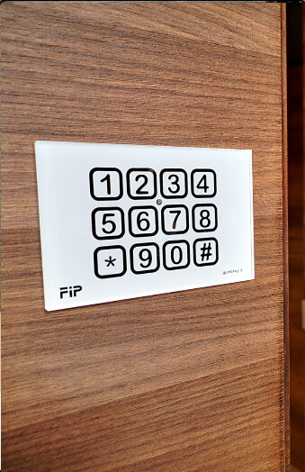 electronic lock keypad for b & b timed codes