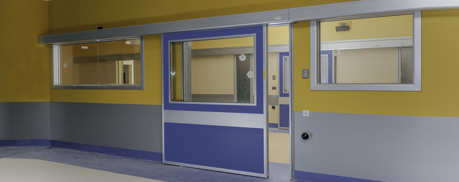 automatic hospital doors with lead