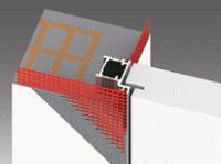 porta rasomuro particolare telaio in alluminio