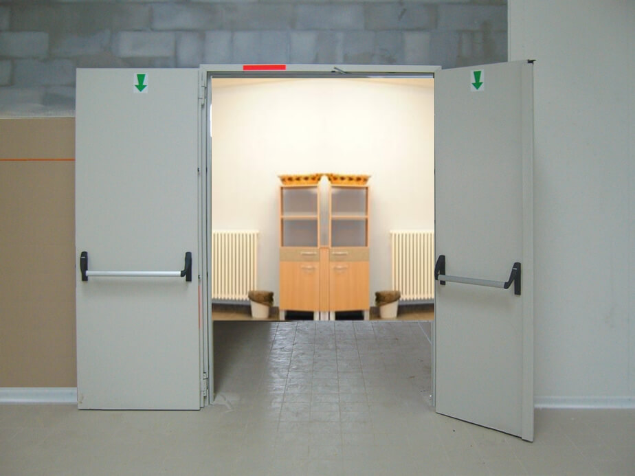 porte rei 120 double leaf fireproof door
