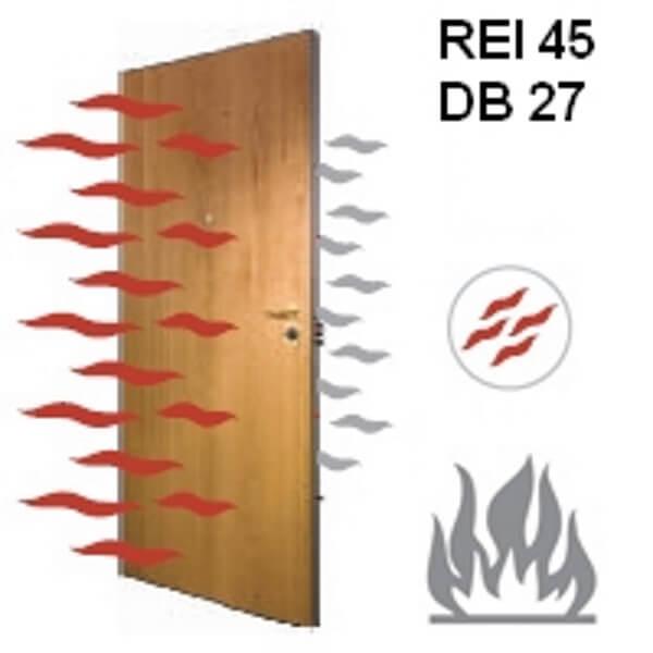 wood fire doors
