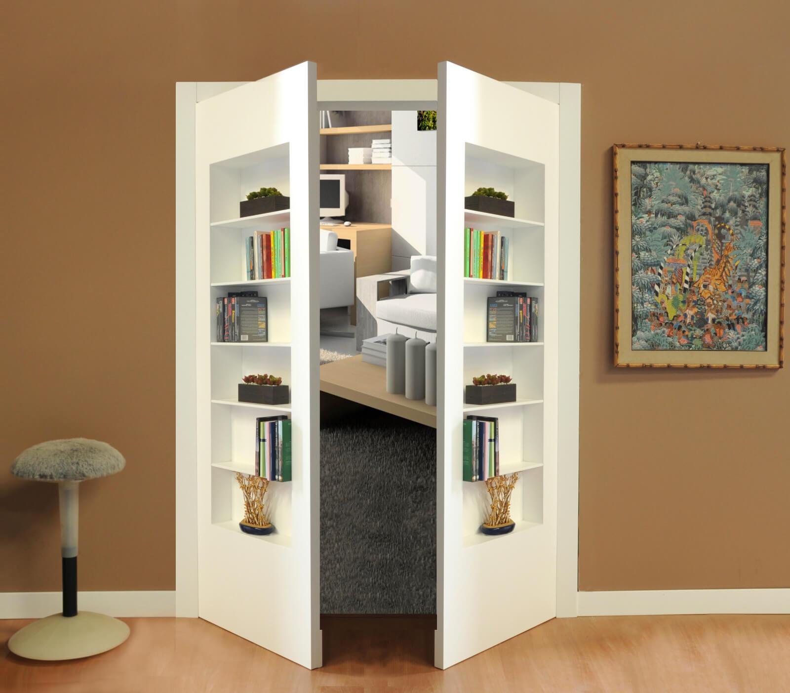 Libreria A Porta Di Roma porta nascosta a libreria, la soluzione d'arredo che unisce