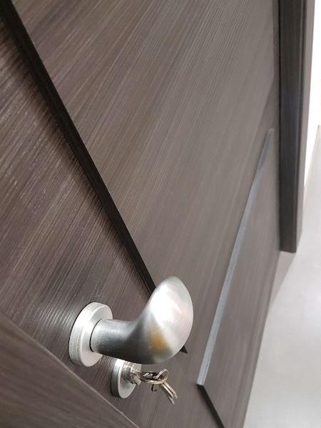 soundproof door handle