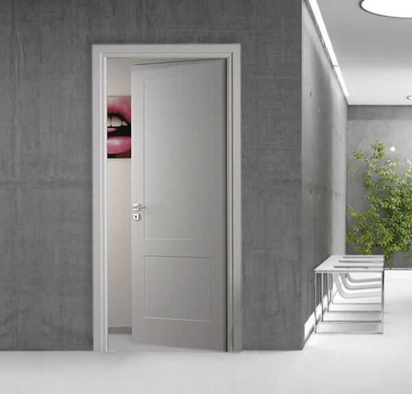 Porte in legno finitura laccata bianca