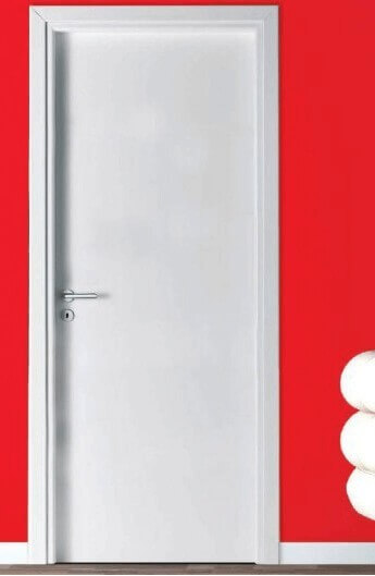 white interior door with water resistant frame
