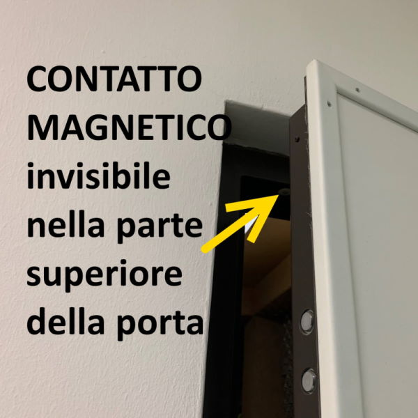 ARMORED DOOR with magnetic contact