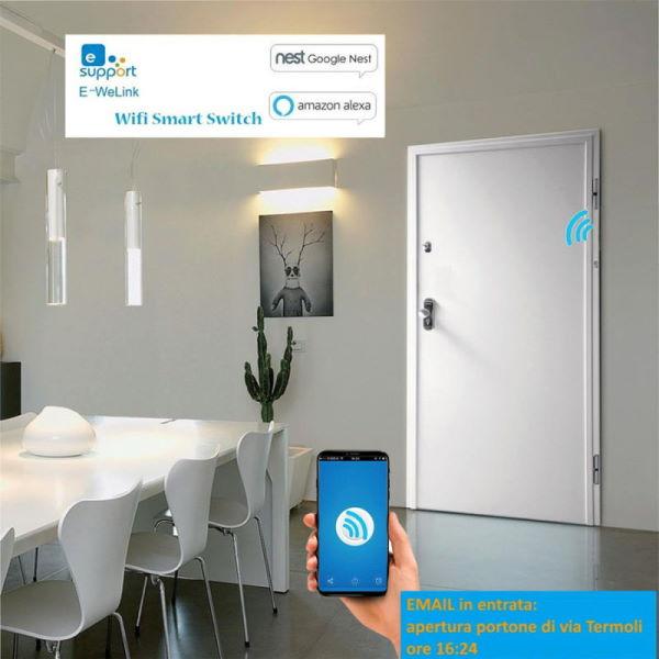 Security door email alert on opening