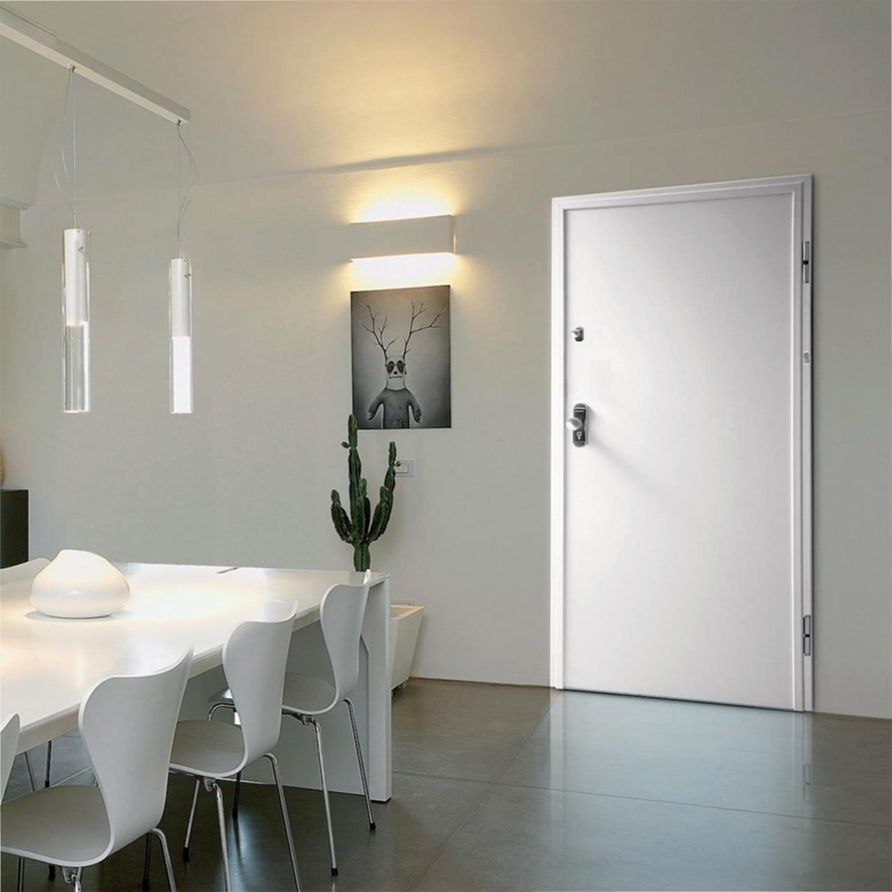 white security door