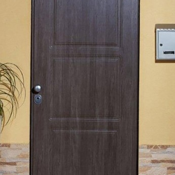 modern armored door covered with PVC