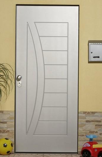 Armored door white