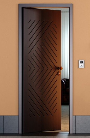 pantographed wenge entrance door