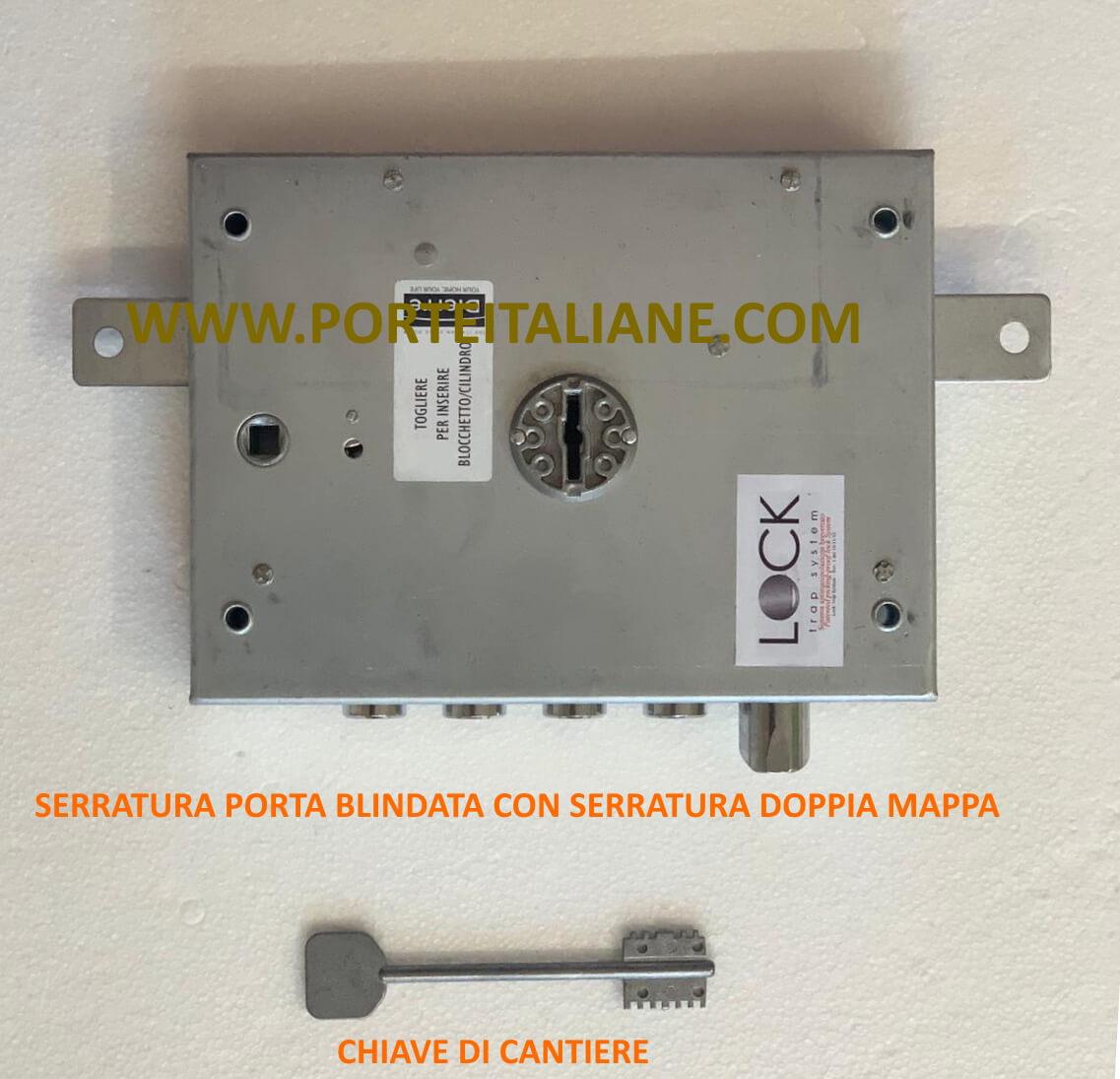 serratura doppia mappa porte blindate