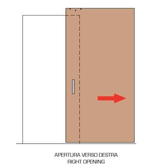 type of opening of the external wall sliding door