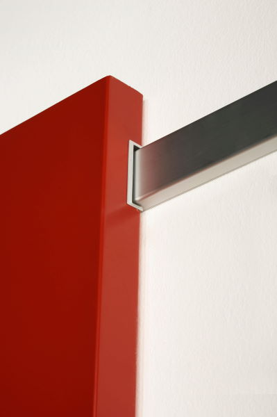 porta legno scorrevole con binario a vista