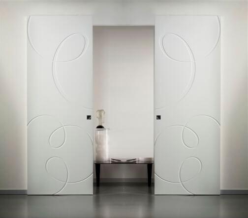 porte scorrevoli esterno muro linvisibile doppia anta