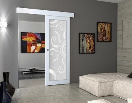 Porta scorrevole esterno muro a specchio eleganti e ...