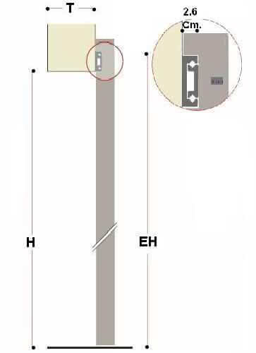 sliding door outside wall section